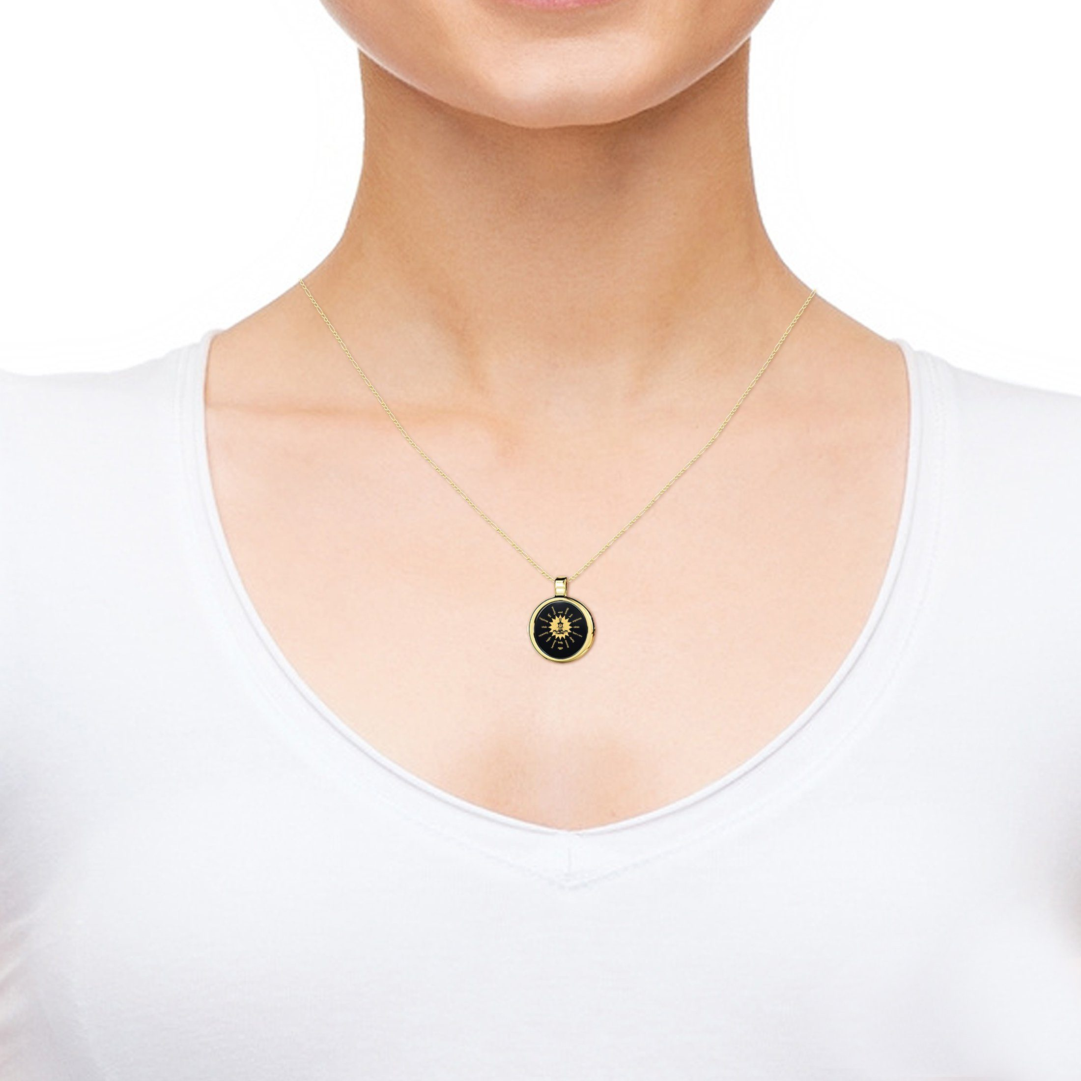 Gold Buddha Necklace for Her, Nano Jewelry