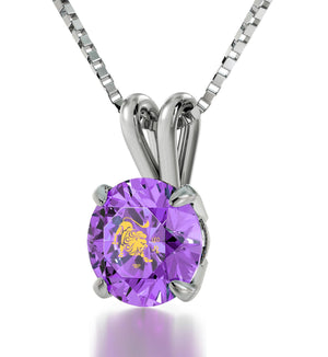 """Purple Pendant on 14k White Gold Chain, What to Buy My Wife for Christmas, Awesome Valentines Day Gifts for Her"""