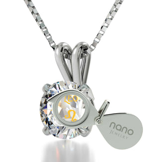 """Leo CZ Crystal Stone Pendant Jewelry, Christmas Present Ideas for Wife, Awesome Valentines Day Gifts for Her"""