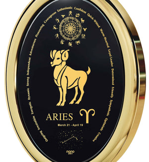 25th Birthday Ideas for Her: Aries Horoscope Personality, Womens Gold Necklace, Great Valentines Gifts for Her