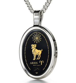 25th Birthday Ideas for Her: Zodiac Characteristics, Womens Sterling Silver Necklace, Great Valentine Gifts for Her by Nano Jewelry