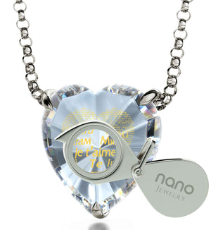 "Good Gifts for Girlfriend: ""I Love You"" in All Languages - Heart - Nano Jewelry"