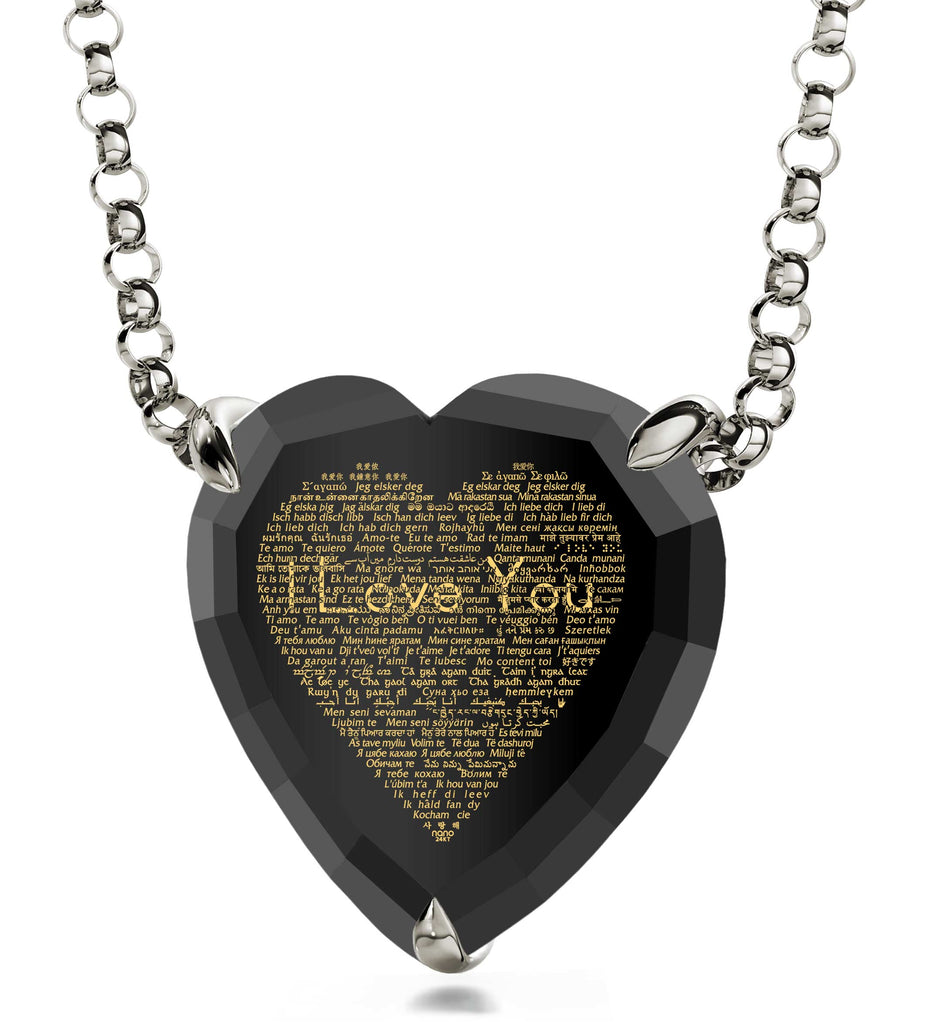 "Unusual Gifts for Her: ""I Love You"" in All Languages - Heart - Nano Jewelry"