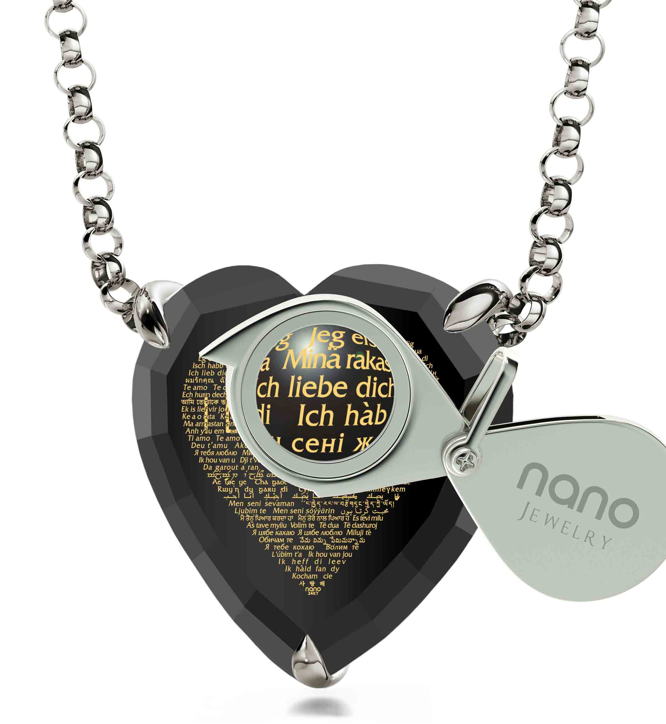"Unique Gifts for Her: ""I Love You"" in All Languages - Heart - Nano Jewelry"