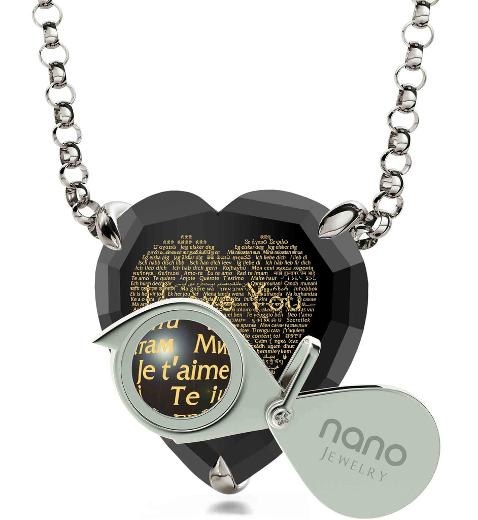 "Gifts To Give Girlfriend: ""I Love You"" in All Languages - Heart - Nano Jewelry"