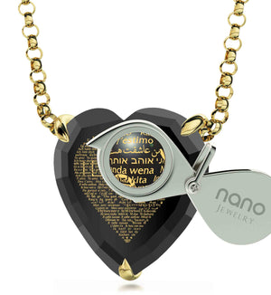 "Romantic Valentines Ideas for Her: ""I Love You"" in All Languages - Nano Jewelry"