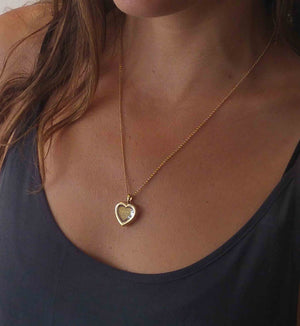 "Best Gift For My Wife Birthday: ""I Love You"" in 120 Languages  - 14K Gold - Plain Heart - Nano Jewelry"