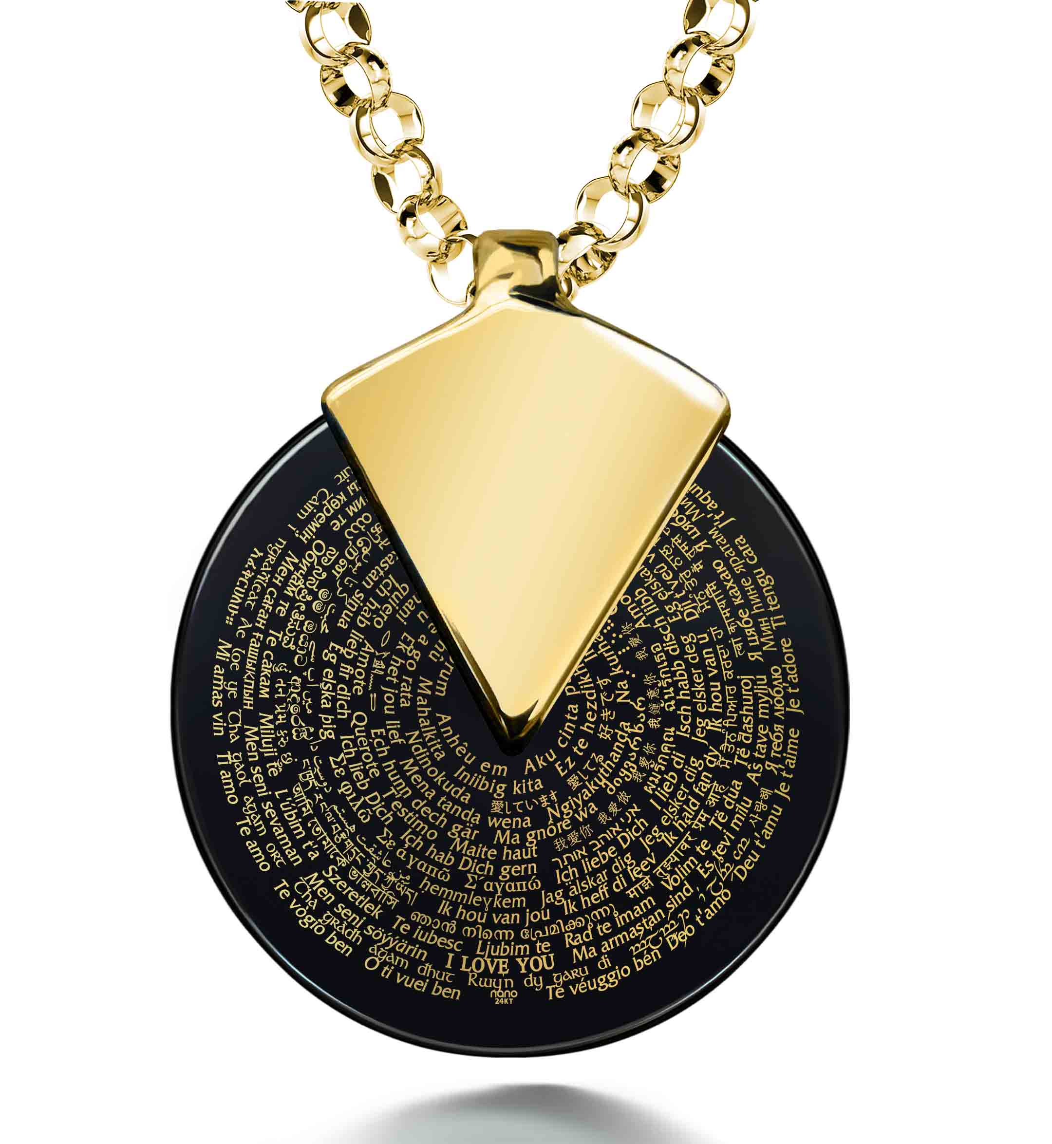 Best Valentines Day Ideas for Her - Love Necklaces in All Languages - Nano Jewelry
