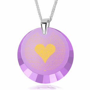 "Valentines Day Ideas for Wife and Daughter - ""I Love You"" Jewelry in 120 Languages - Nano Jewelry"