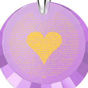 "Valentines Day Presents for Her: ""I Love You"" in 120 Languages - Round Facets - Nano Jewelry"