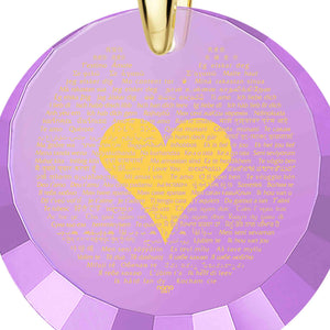 "Valentine Gift Ideas for Teachers: ""I Love You"" in 120 Languages - Round Facets - Nano Jewelry"