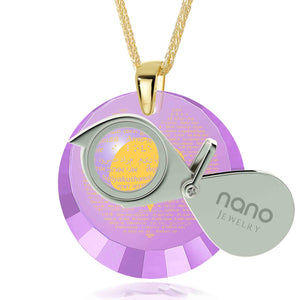 "Valentine Gifts for Her Romantic: ""I Love You"" in 120 Languages - Round Facets - Nano Jewelry"