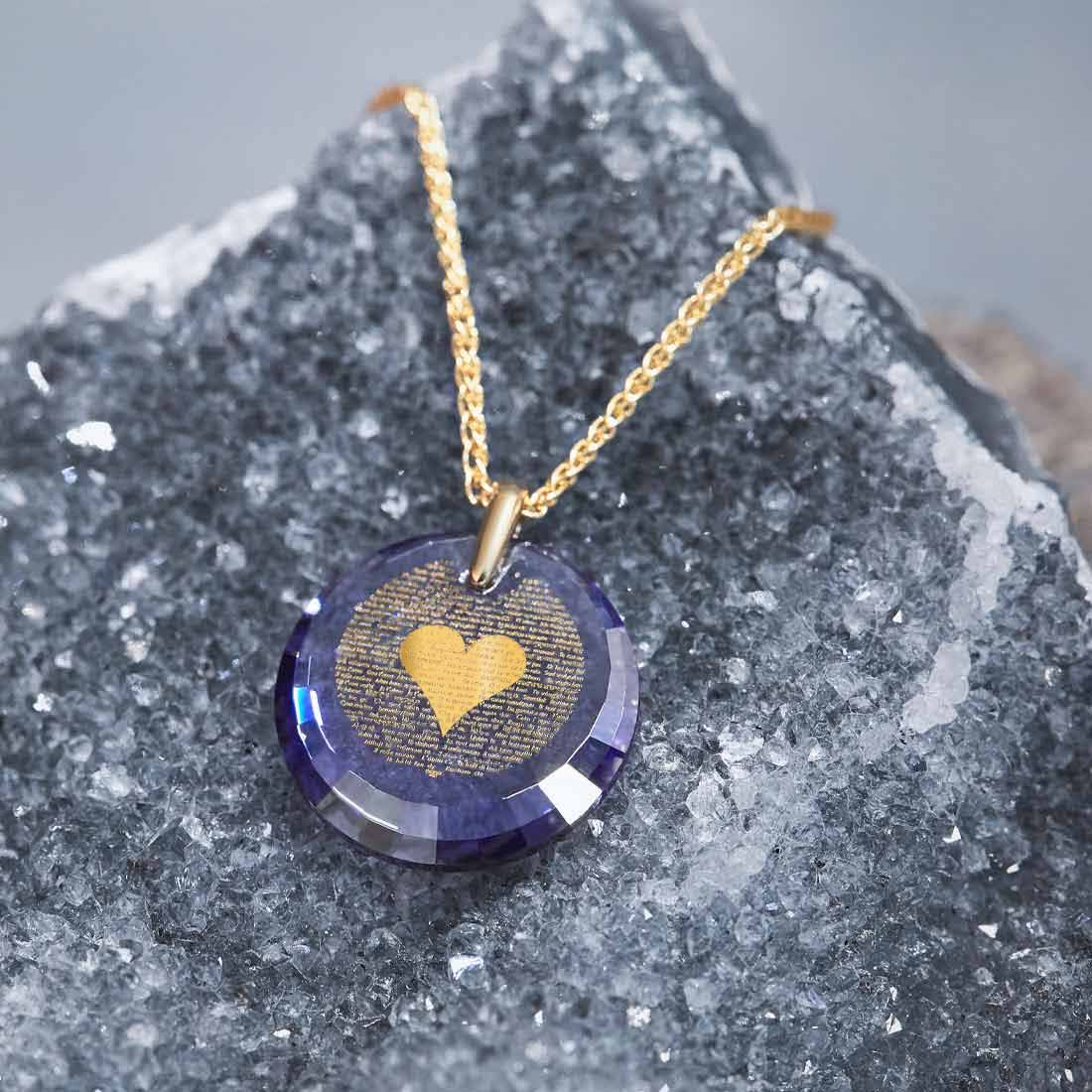 """I Love You"" in 120 Languages, 14k Gold Necklace, Zirconia"