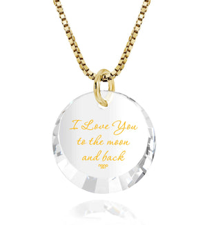 Love You To The Moon And Back Jewelry: Round Special Cut - 14K Yellow Gold - Nano Jewelry