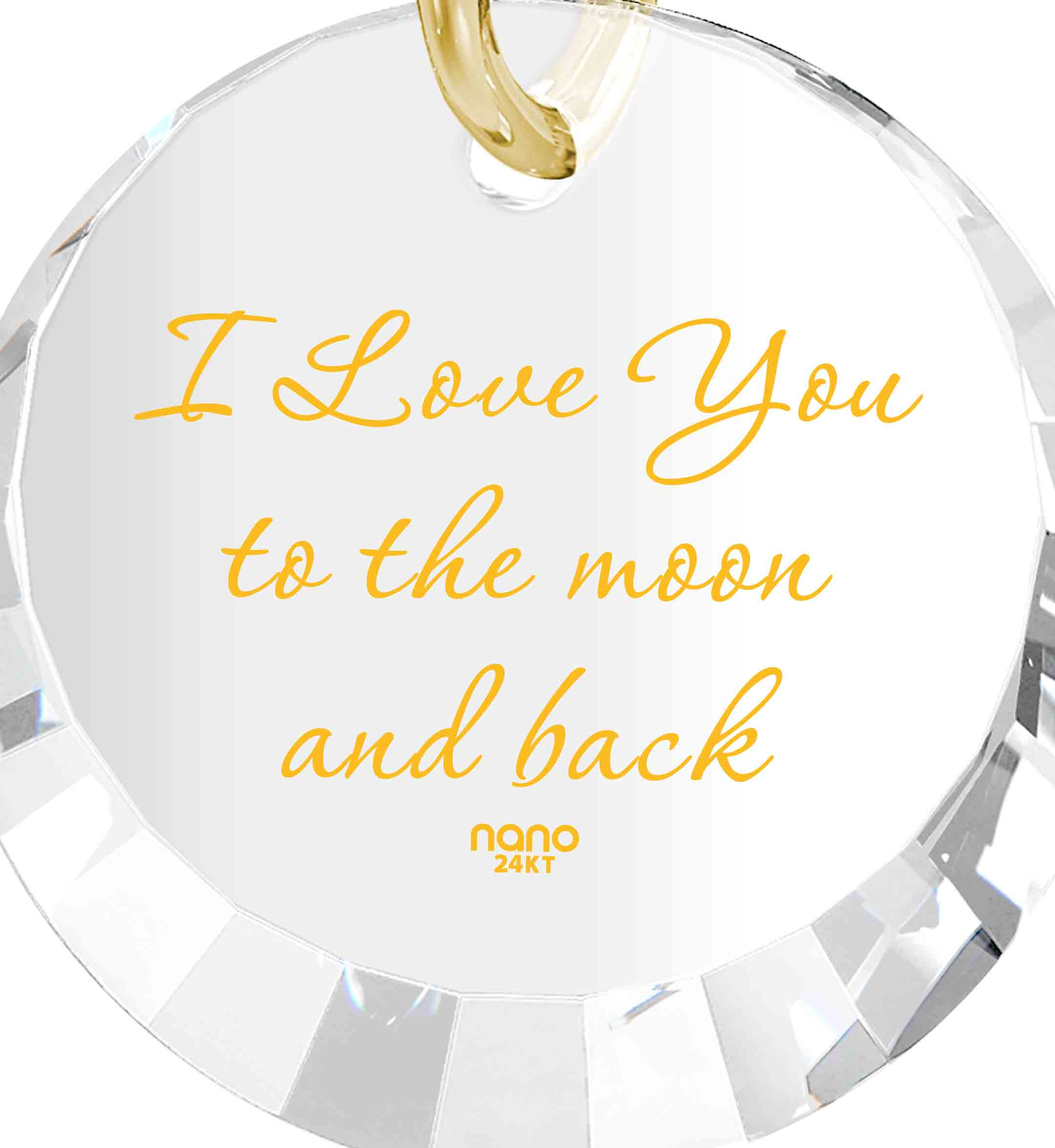 To The Moon And Back Necklace: Round Special Cut - 14K Yellow Gold - Nano Jewelry