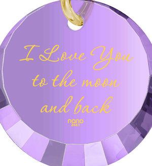 I Love You To The Moon And Back Jewelry: Round Special Cut - 14K Yellow Gold - Nano Jewelry