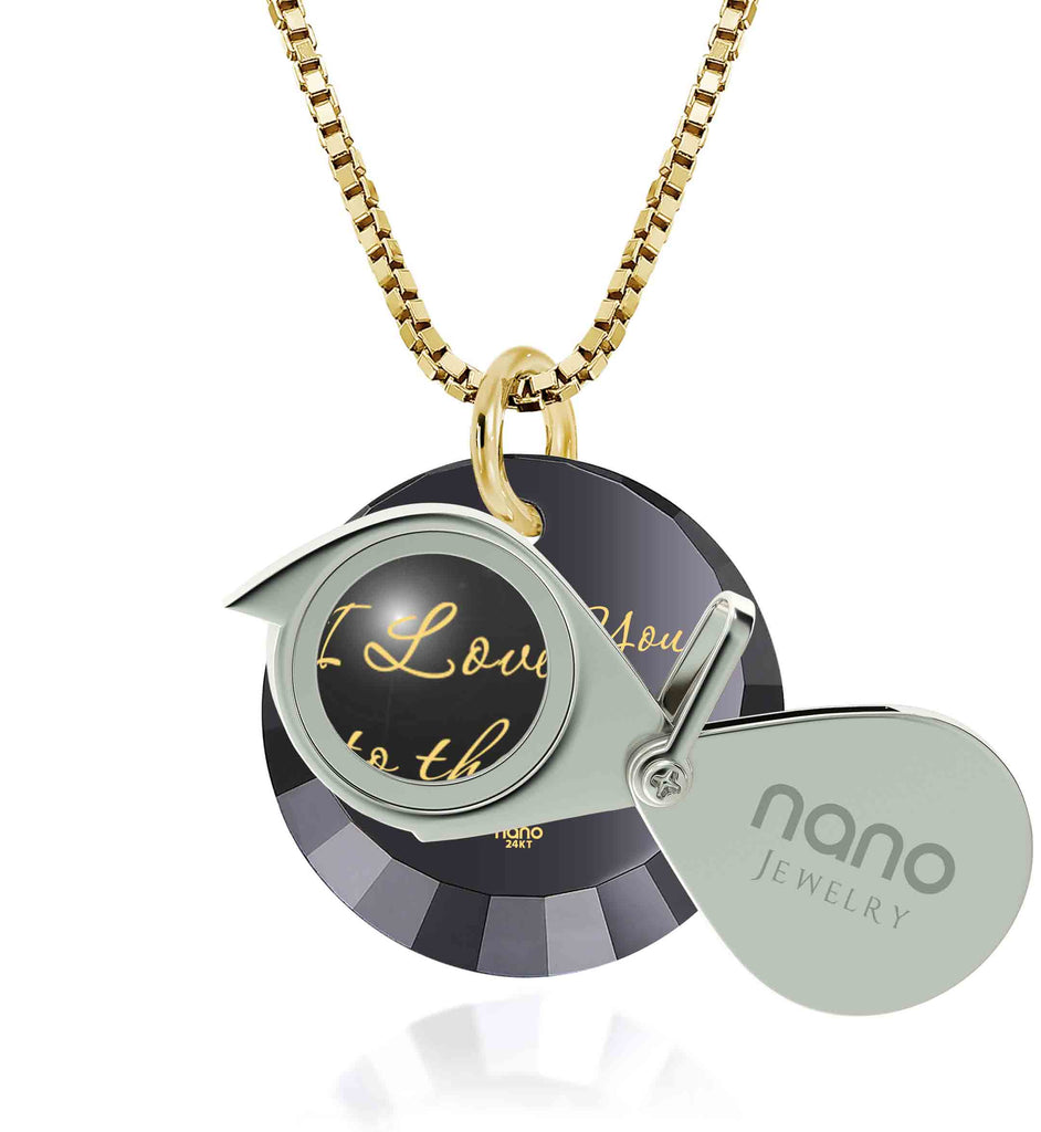 To The Moon And Back Jewelry: Round Special Cut - 14K Yellow Gold - Nano Jewelry