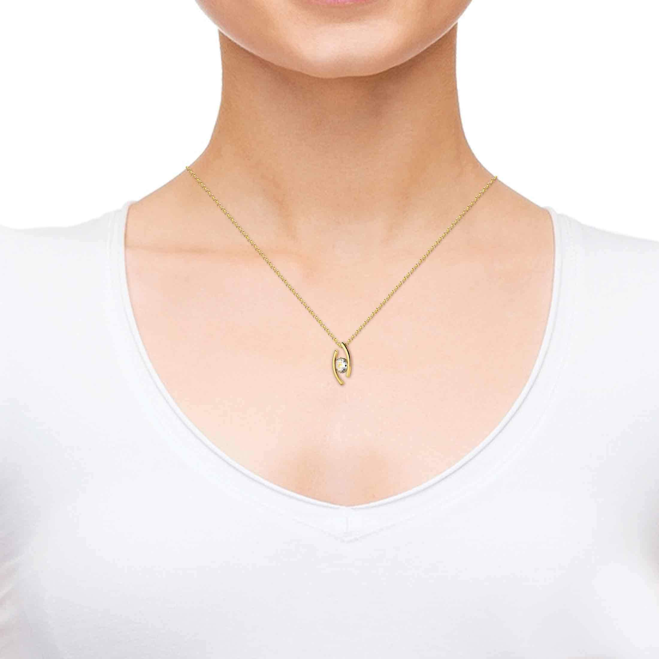 Sagittarius 14k Gold Necklace, Nano Jewelry
