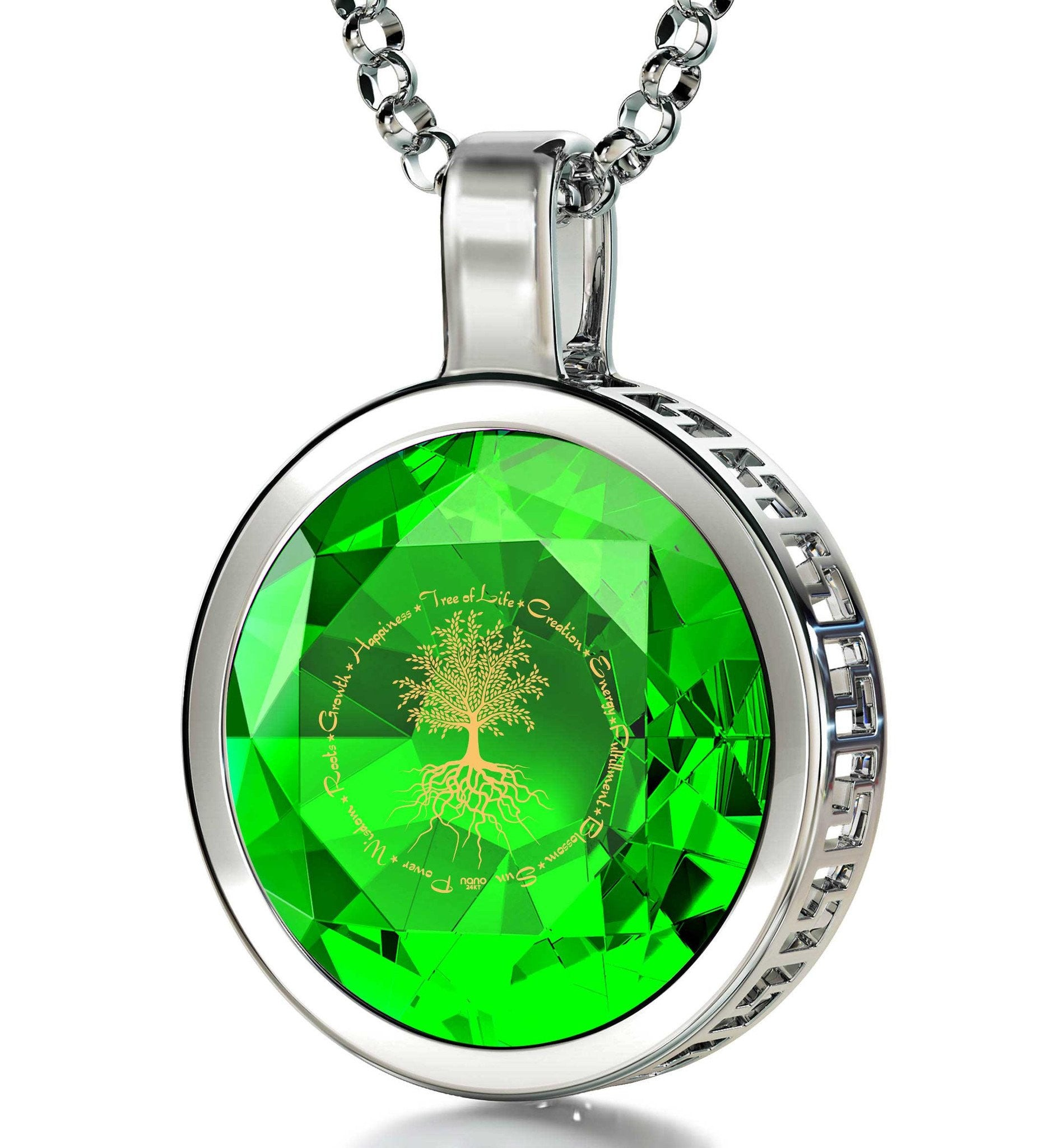 tree of life 925 sterling silver necklace zirconia - What To Get Mom For Christmas