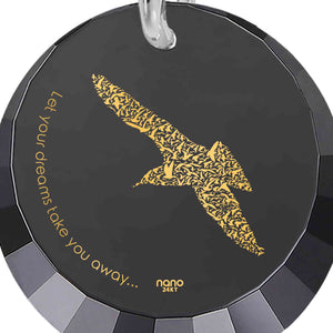 "Goddaughter Gifts, ""Let Your Dreams Take You Away"" Bird Necklace Engraved, Nano Jewelry"