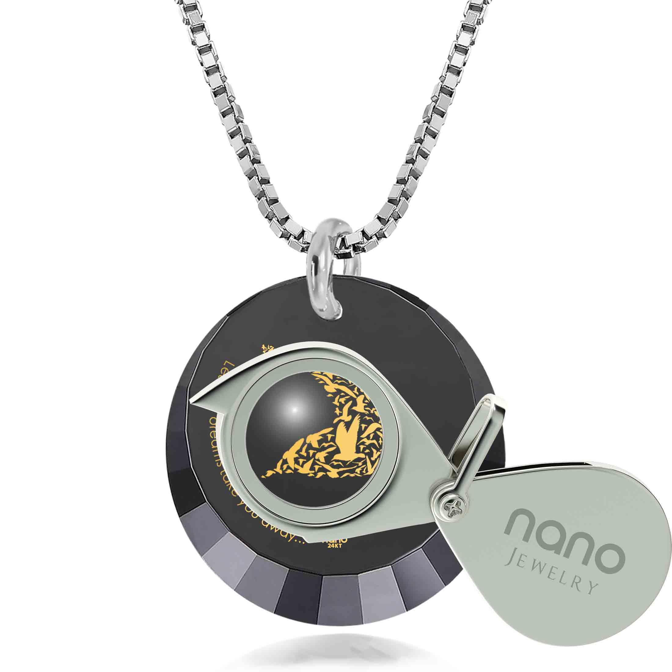 "Gifts for Daughter in Law, ""Let Your Dreams Take You Away"", Nano Jewelry"