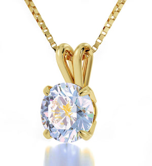 """Make Your Wish"", 24k Gold Plated Necklace, Swarovski"