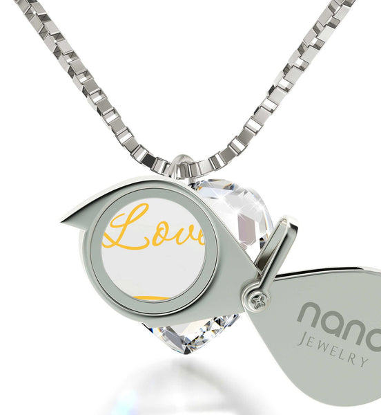 "I Love You Infinity"" Imprint, Ladies Christmas Presents, Great Gifts for Wife, Swarovski Crystal Jewelry"