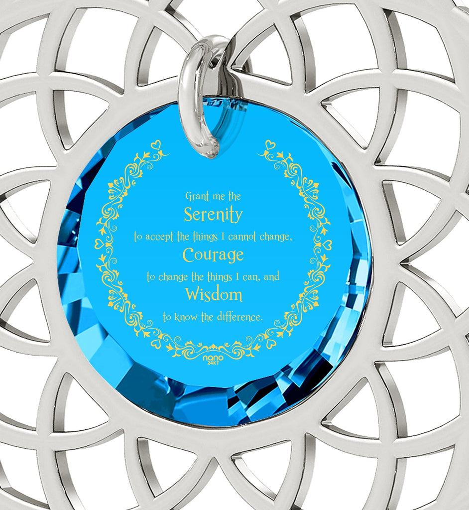 Serenity Prayer Necklace: Christmas Presents for Sister: Graduation Gifts for Her, Fine Sterling Silver Jewelry, Nano Jewelry