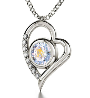 """Aquarius Jewelry With Zodiac Imprint, Heart Necklaces for Girlfriend, Birthday Gift for Teenage Girl, by Nano"""