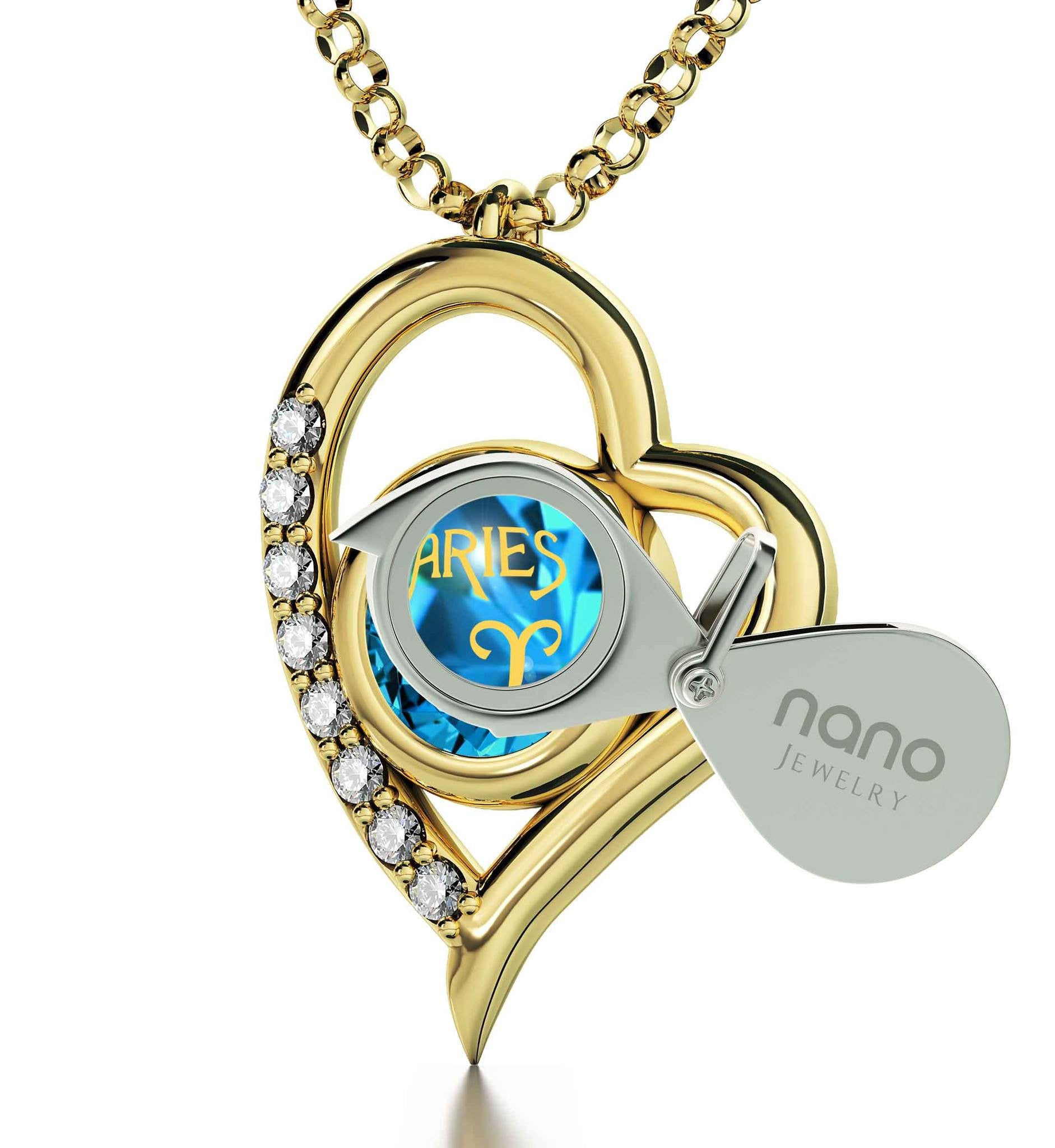 """Pendant With Zodiac Imprint, Christmas Presents for Best Friends, Birthday Present for Sister, by Nano Jewelry  """