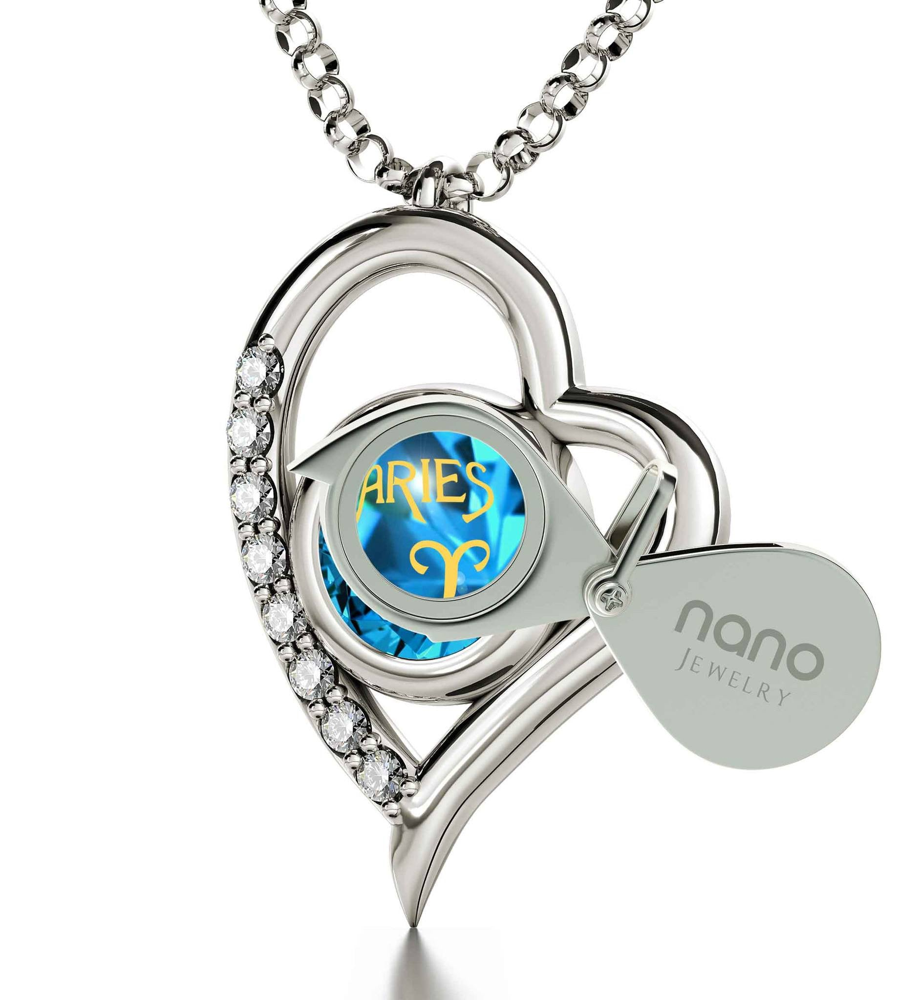 """Pendant With Zodiac Imprint, Christmas Presents for Best Friends, Birthday Present for Sister , by Nano Jewelry """