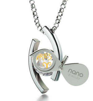 """Aries Necklace With Zodiac Imprint, Good Christmas Gifts for Girlfriend, Valentines Ideas for Her, White Stone Necklace"""