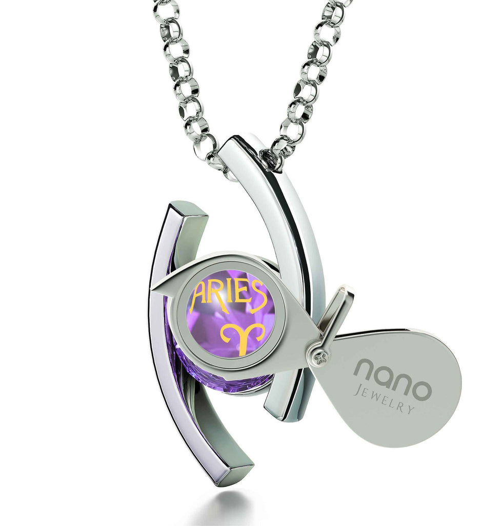 """Aries Pendant With 24k Imprint, What to Get Girlfriend for Birthday, Christmas Gifts for Sister, by Nano Jewelry """