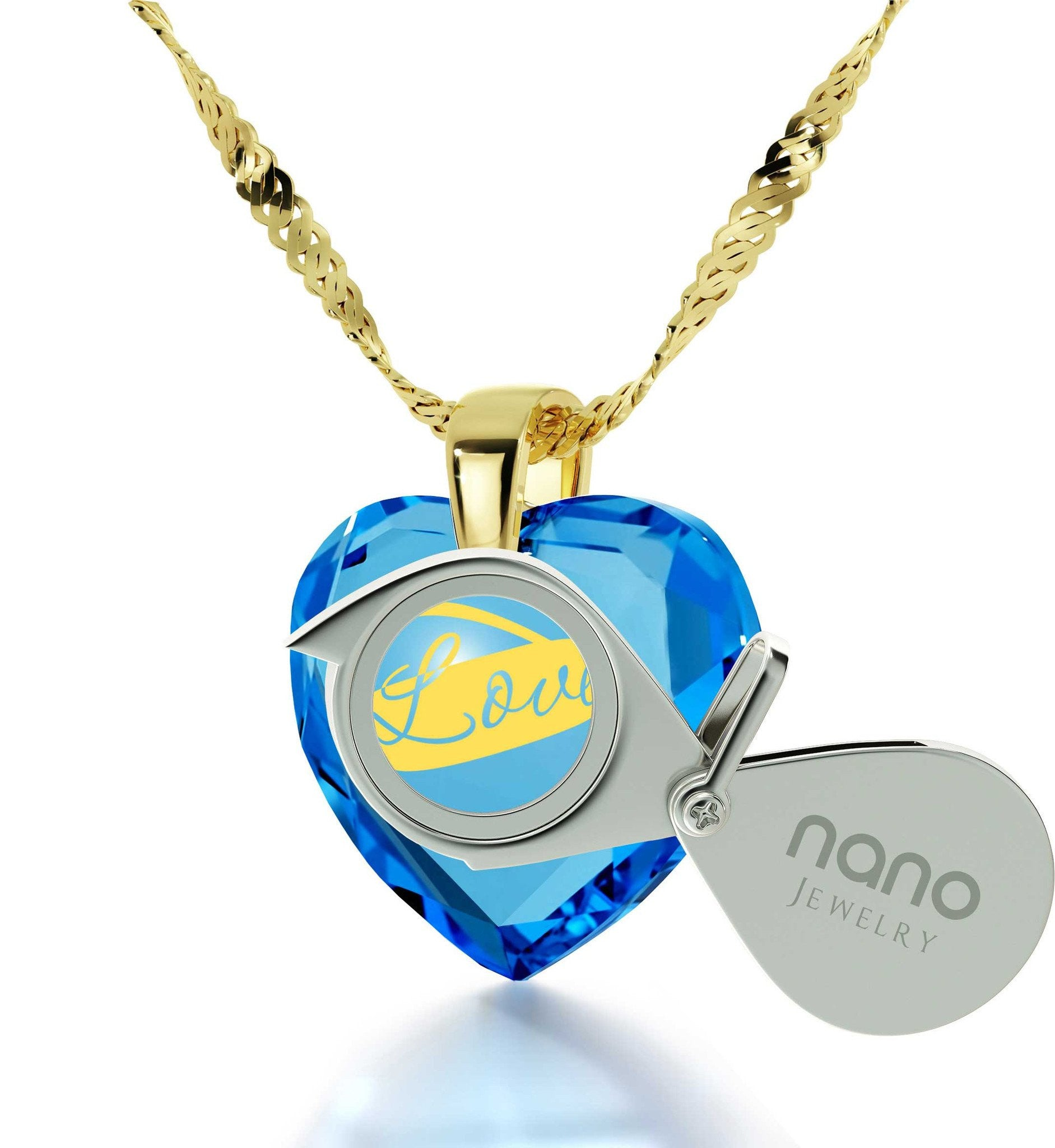Best Christmas Present for Girlfriend, Blue Topaz, Gold Filled Jewelry, Romantic Gifts for Wife, by Nano