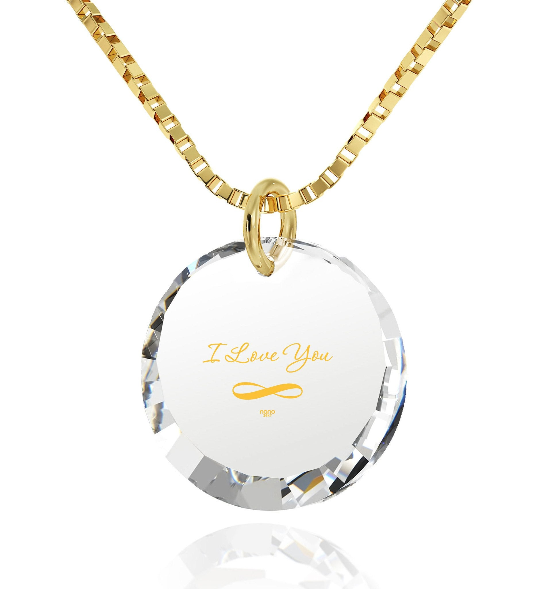 "Necklaces for Your Girlfriend,""I Love You Infinity"" 24k Imprint, Pure Romance Products, Nano Jewelry"