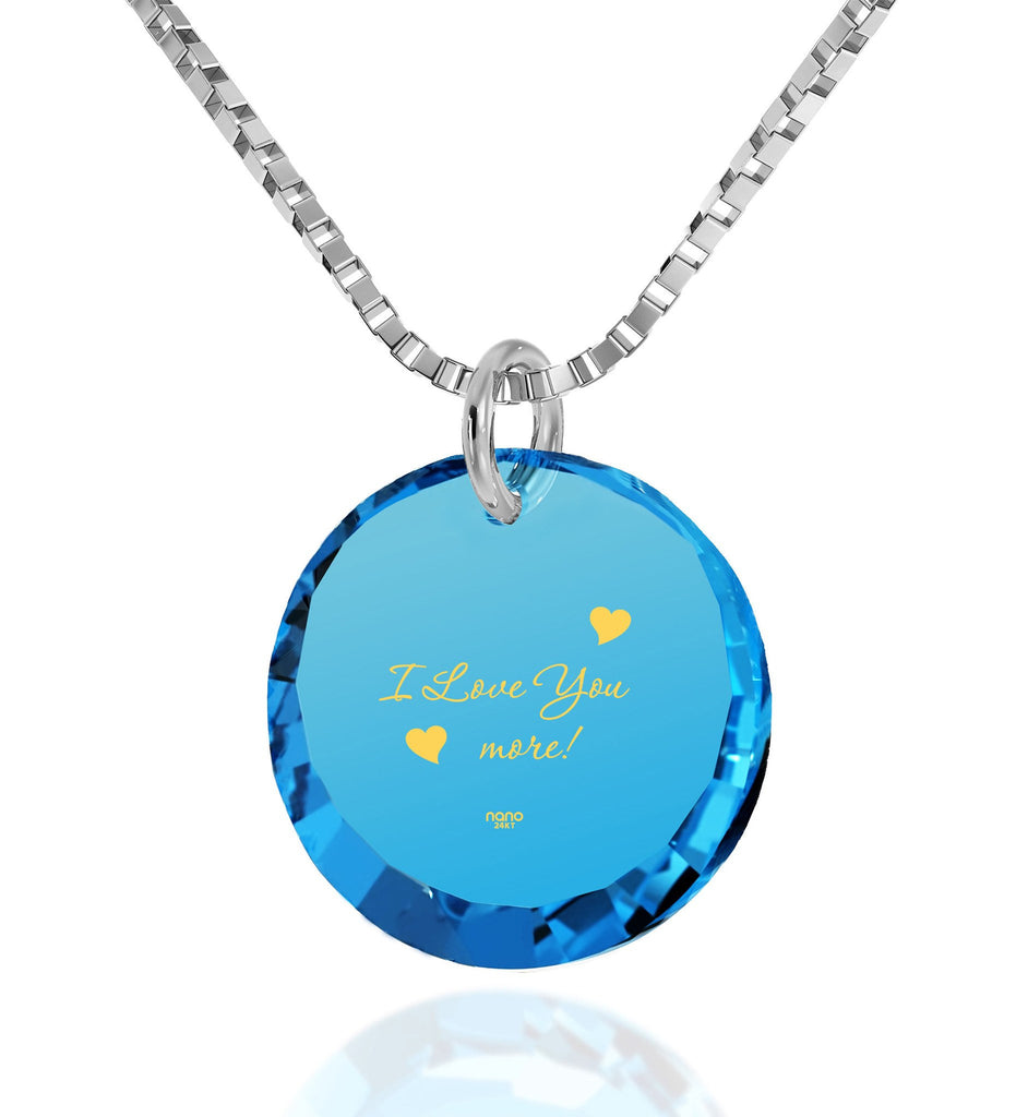 """Best Christmas Present The Love Necklace 24k Engraved Necklace Girlfriend Gift"""