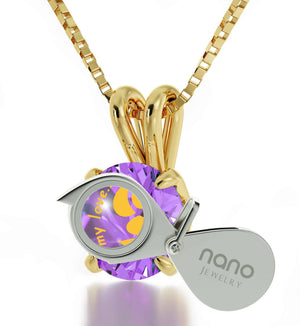 """Xmas Gifts for the Wife, Cute 14k Gold Jewelry with CZ Pendant, Birthday Present for Girlfriend, by Nano"""