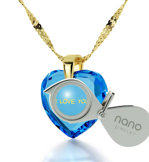 """Wife Birthday Ideas, ""I Love You Truly, Madly, Deeply"", Engraved Necklaces, Valentine Gifts for Girlfriend"""