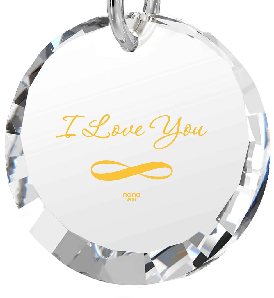 Best Valentine Gift for Wife, 14k White Gold Jewelry, 24k Imprint, Girlfriend Necklace, Nano