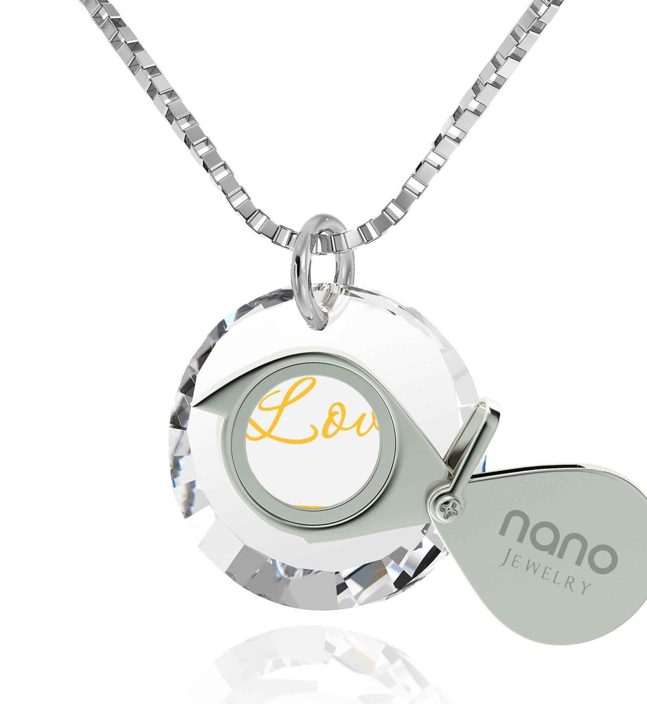 "What to Buy My Wife for Christmas, ""I Love You Infinity"" 24k Imprint, Xmas Gifts for Girlfriend, Nano Jewelry"