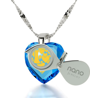 """Good Presents for Girlfriend,14k White Gold Necklace, I Love You More Jewelry, Nano"""