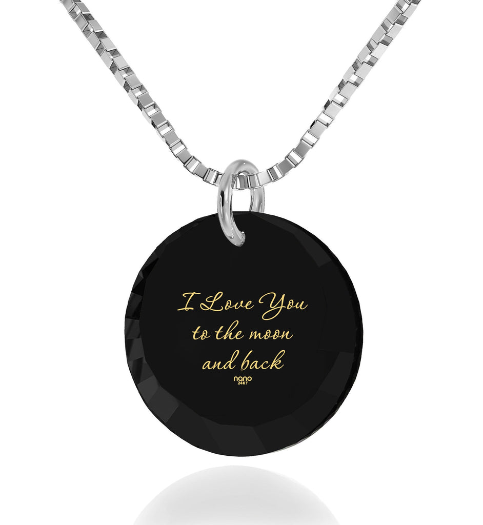 Best Valentine Gift for Wife, 24k Imprint,14k White Gold Necklace, Pure Romance Products, Nano Jewelry