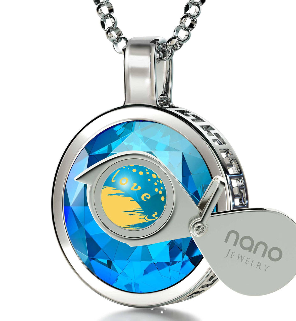 """Top Gifts for Wife,""I Love You to The Moon and Back"" Engraved Jewelry, Birthday Ideas for Girlfriend, Nano"""