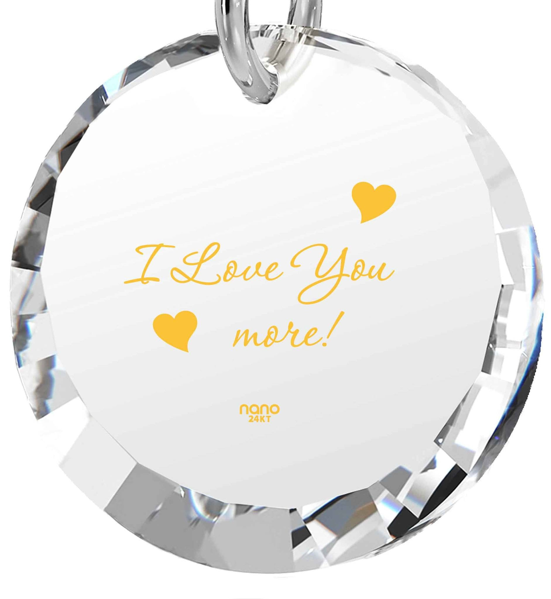 """Birthday Gift For Wife The Love Necklace 24k Engraved Jewelry Present For Girlfriend"""
