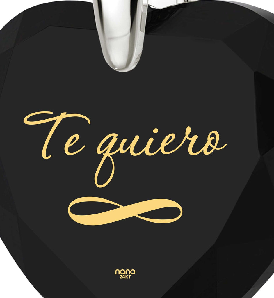 """Valentine's Day Gift Ideas for Girlfriend, Women's Sterling Silver Jewelry, ""TeQuiero"", Christmas Presents for Wives by Nano"""