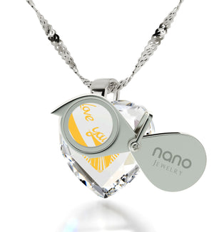 """Top Gift Ideas for Women, White Stone Necklace, CZ Jewelry, Best Presents for Christmas, Nano"""