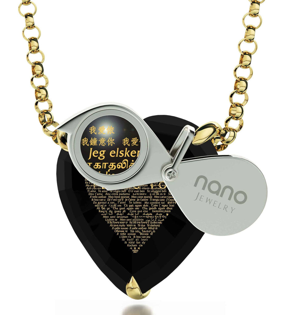 Best Wife Birthday Gifts, I Love You in All Languages, by Nano Jewelry