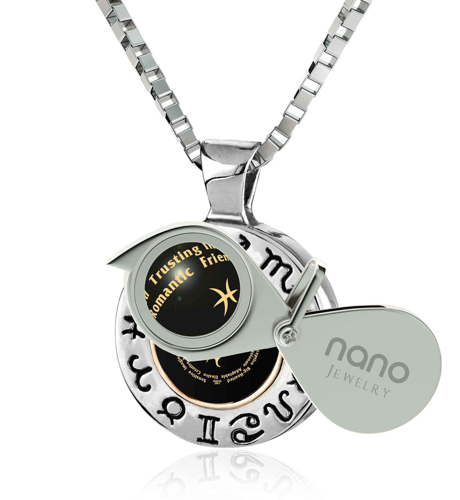 Birthday Surprises for Him: Silver Necklace with Pisces Traits, Boyfriend Christmas Ideas, by Nano Jewelry