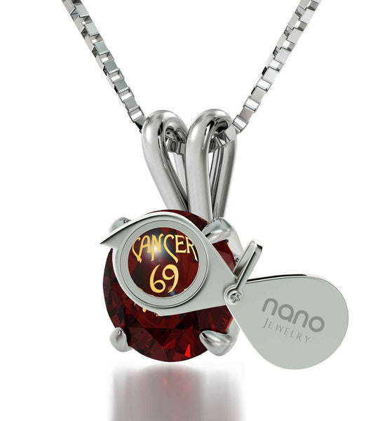 """Cancer Zodiac Necklace: Birthstone Jewelry, Ladies Christmas Gift Ideas, What to Get Your Best Friend for Her Birthday"""