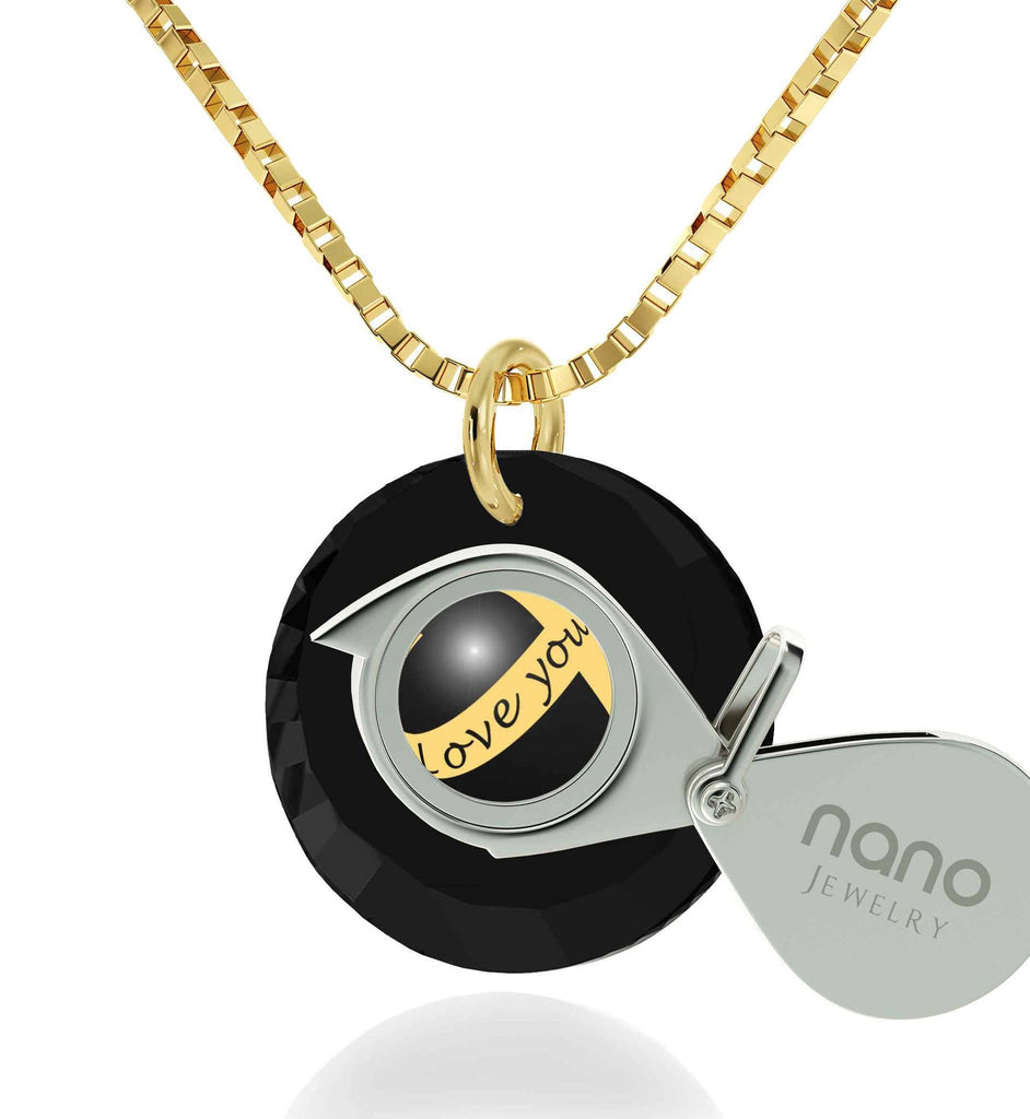 "Girlfriend Birthday Ideas, ""Love You Always"" Engraved on Black Stone, Fun Gifts for Women, by Nano Jewelry"